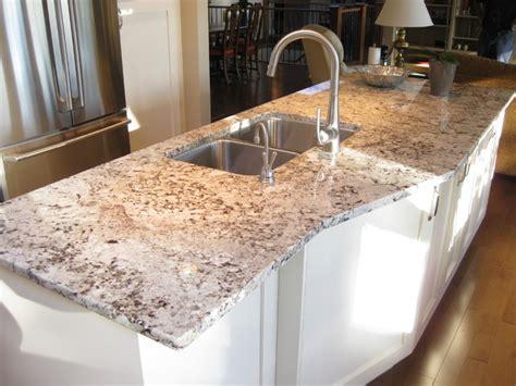 Wood Kitchen Backsplash by Alaska White Granite