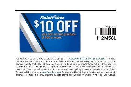 finish line coupon code 2018 july