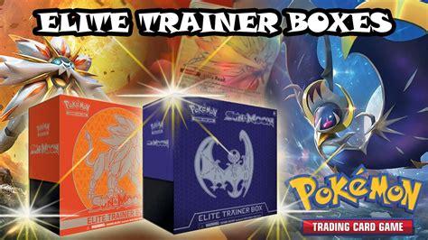 Elite Trainer Lunala opening both solgaleo lunala elite trainer boxes a