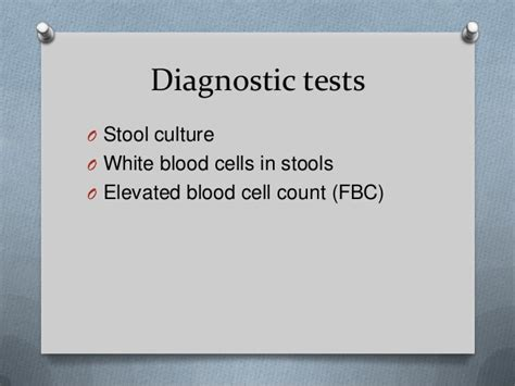 High White Blood Cell Count In Stool by Shigellosis By Nelson Munthali Dnc Rn