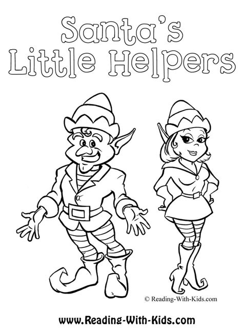 simple elf coloring page cartoon christmas elf az coloring pages
