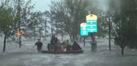 cajun navy hurricane florence hurricane florence incredible footage emerges of cajun