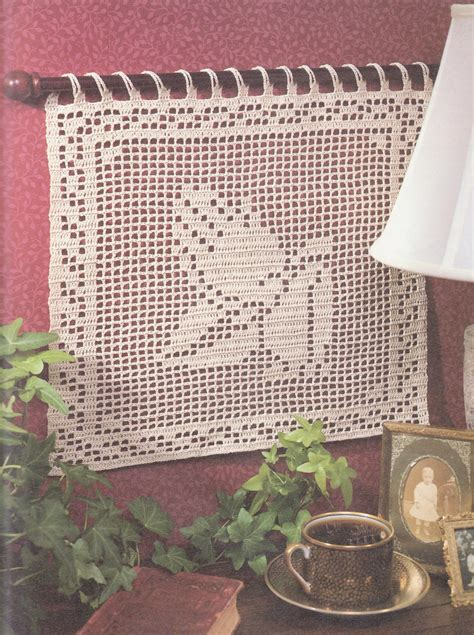designs in filet crochet patterns book religious