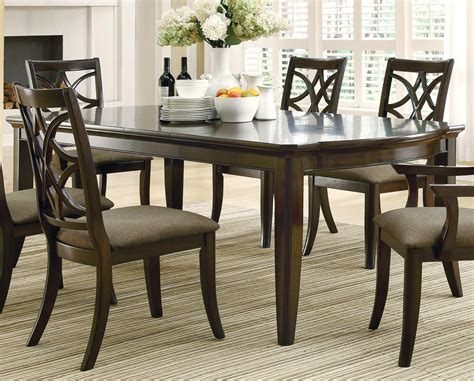 dining table espresso meredith espresso rectangular extendable dining table from