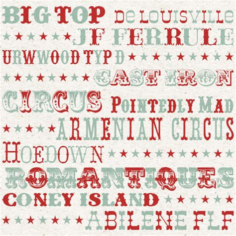 printable circus fonts my favourite circus fonts magic jelly