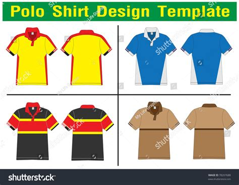 polo shirt design lined vector template for design work