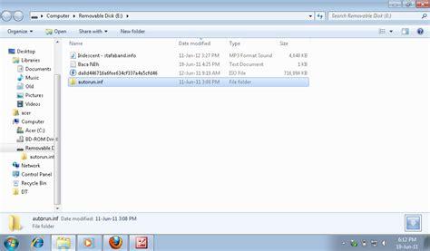cara membuat virus autorun inf skyfix net cara menghapus virus autorun inf di flashdisk