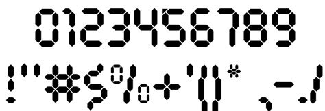 calculator font new font for calculator numbers