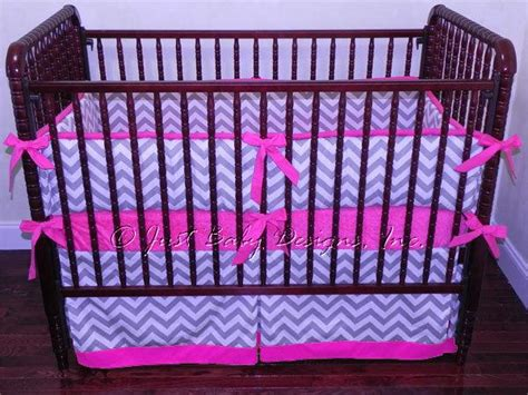 hot pink baby bedding custom crib bedding abbie gray and white by babybedding