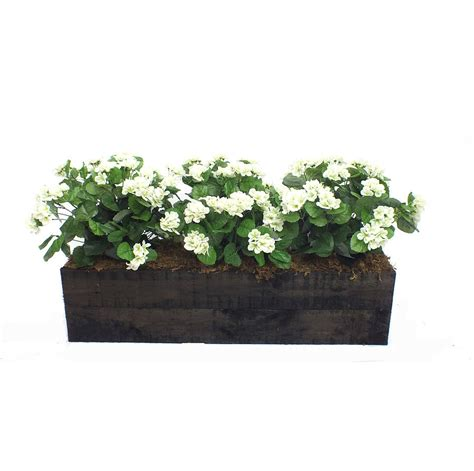 artificial geranium flower box by artificial landscapes