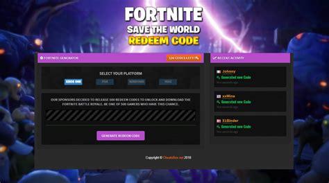 fortnite save the world code fortnite save the world redeem code generator free