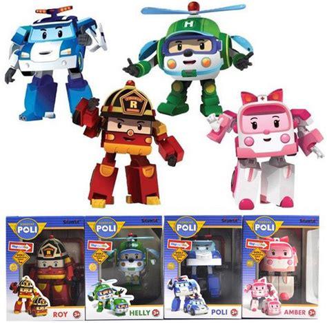 New 2pc Robocar Poli 4 pcs new robocar poli poli roy helly robot toys educational gift ebay