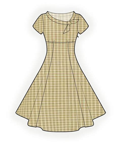 pattern sewing online flared dress sewing pattern 4368 made to measure