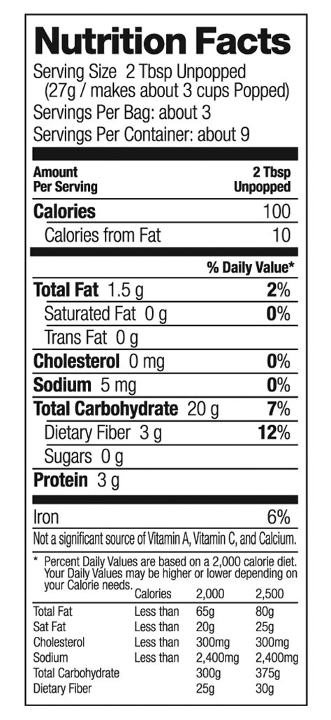microwave popcorn nutrition facts bestmicrowave