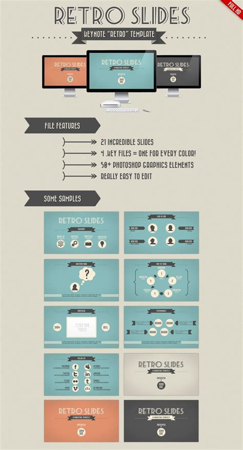 themes for powerpoint 2007 design retro slides keynote and powerpoint template by