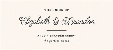 Wedding Font Pairings Free by Free Wedding Font Pairings The Match 6