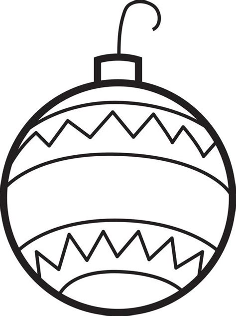 printable ornaments to color and cut free printable christmas ornaments coloring page for kids 2