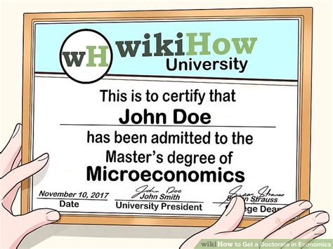 Can You Get A Phd In Economics With Mba by How To Get A Doctorate In Economics With Pictures Wikihow
