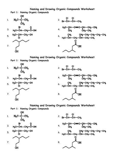 Organic Chemistry Worksheet by 16 Best Images Of Chemistry Naming Compounds Worksheet