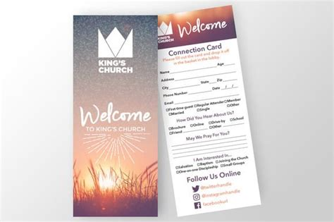 free church connection card template 17 best images about connect card on a well