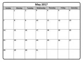 Calendar Printable Template May 2017 Calendar Printable Template Get Calendar Templates