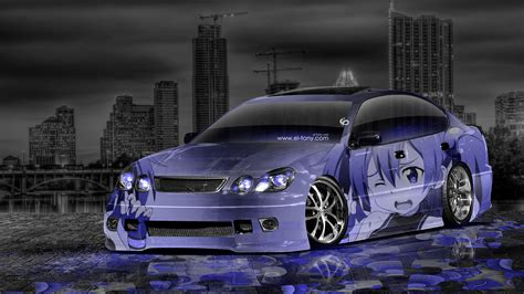 jdm tuner cars toyota aristo jdm tuning anime aerography city car 2014