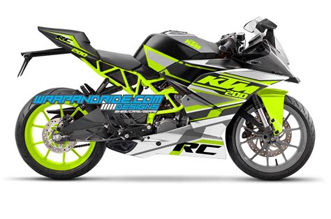 ktm rc 2017 fluorescent green graphics decal pack rc 200 wrap and ride