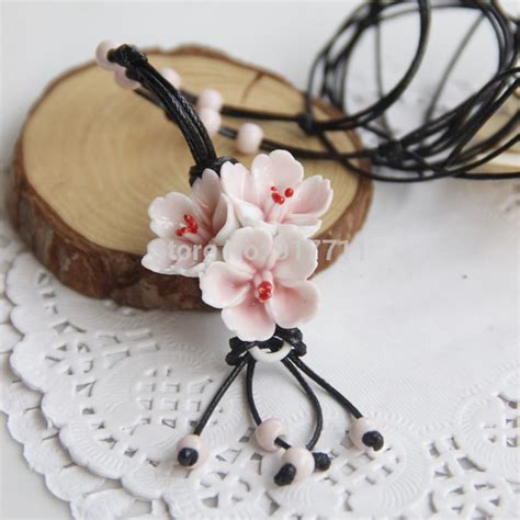 Handmade Fashion Accessories - aliexpress buy flower ceramic necklaces handmade