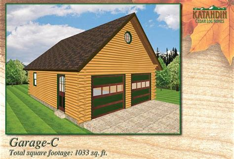 log home floor plans with garage garage c katahdin cedar log homes floor plans