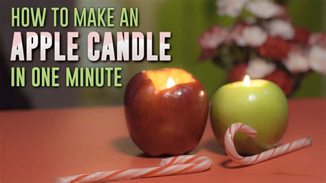 Apple Candle make a candle from an apple in 1 minute