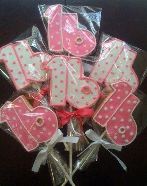 Sweet 16 Birthday Giveaways - sweet 16 birthday cookies cookies pinterest cookie pops birthdays and party favors