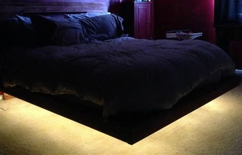 Lighted Bed Frame How To Build A Diy Floating Bed Frame With Led Lighting Removeandreplace