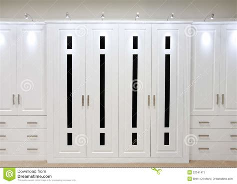 Bedroom Fitted Wardrobe Doors by Home Design White Fitted Wardrobe Doors Stock Image Image