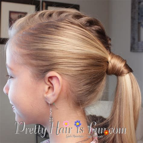 easy triple braided hairstyle babes in hairland pretty hair is fun mohawk fishtail ponytail pretty hair