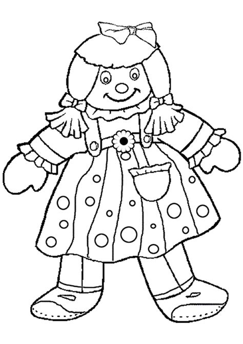 doll coloring page www imgkid com the image kid has it