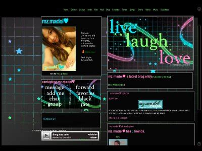 layout editor myspace live laugh love myspace layouts createblog