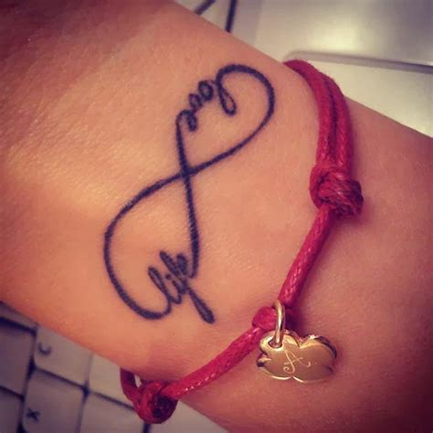 infinity love tattoo on wrist tattoos designs pictures and ideas