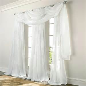 Sheer Elegance Curtains Elegance Voile White Sheer Panels Altmeyer S Bedbathhome