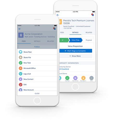 mobile sales salesforce app mobile crm apps salesforce