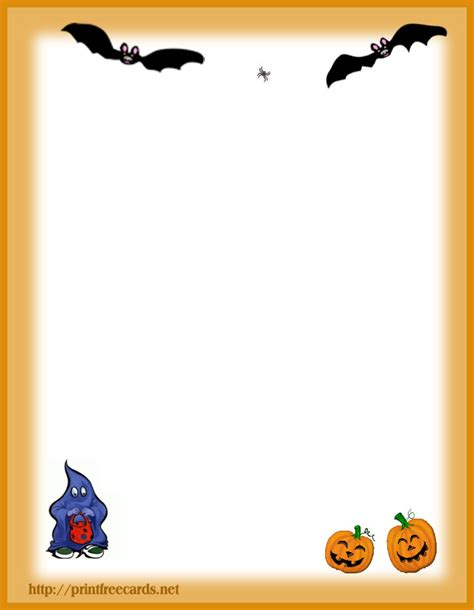 printable halloween stationery paper free halloween stationary letterhead 3