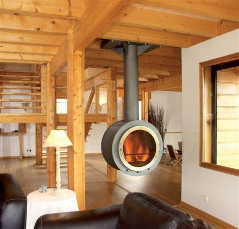 cheminee moderne design a bois poele a bois francais