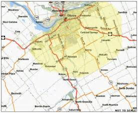map of ottawa canada and surrounding area ottawa map