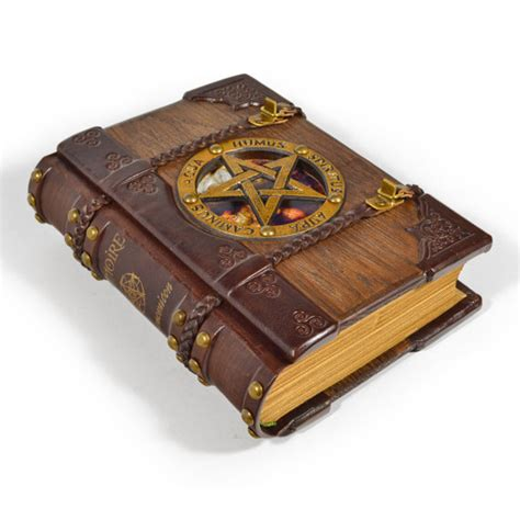 the necronomicon wooden leather journal cthulhu shop