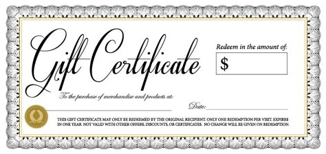template for gift certificate 18 gift certificate templates excel pdf formats