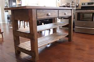 Kitchen Island Rustic Diy Rustic Kitchen Island Home Decor For The Home