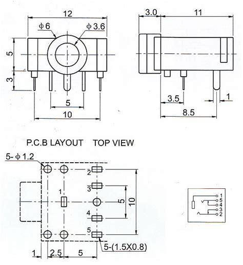 Audio Cable 4 Segment 35mm To Dual 3 Segment T3009 2 20pcs 3f07 dual channel audio socket 3 5mm electrodragon