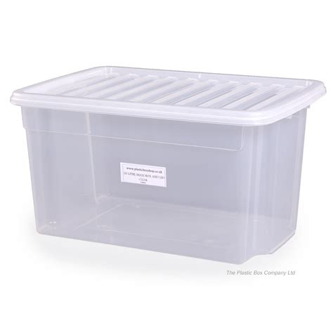 bathroom storage boxes with lids buy 50lt uni plastic storage boxes with lids free delivery