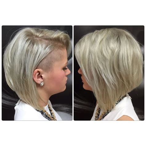 side shaved bob concave platinum bob shaved side hair by kirsty g l