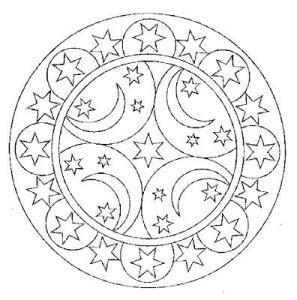 space mandala coloring pages moon and mandala coloring vil 225 gűr space