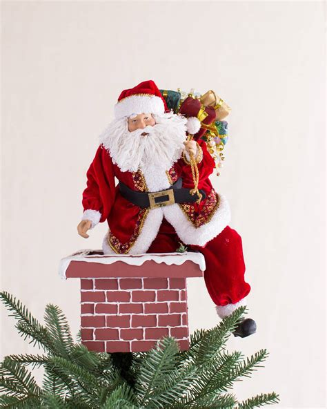 Thanksgiving Home Decorating Ideas jolly saint nick tree topper balsam hill